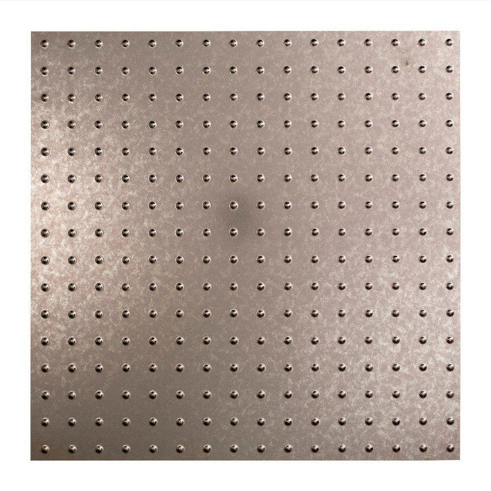 Fasade Minidome - 2 ft. x 2 ft. Lay-in Ceiling Tile in Galvanized Steel
