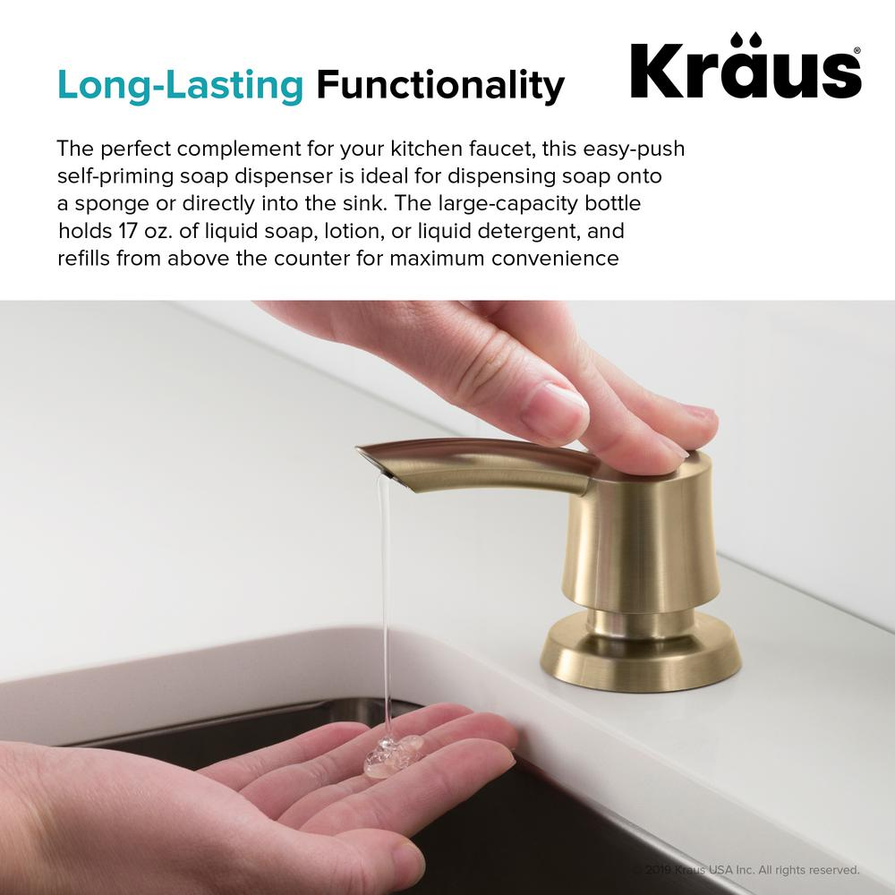 Tremendous Kraus Savan Kitchen Soap Dispenser In Brushed Gold Theyellowbook Wood Chair Design Ideas Theyellowbookinfo