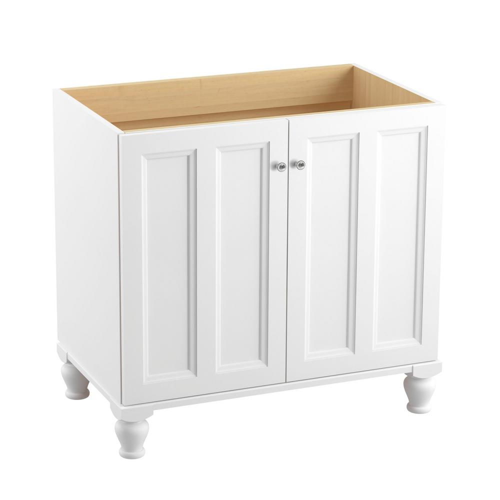 chrome bathroom cabinet kohler damask 24 in vanity cabinet in linen white with 13580