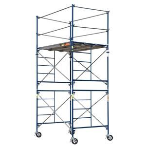 MetalTech Saferstack 10 ft. x 5 ft. x 7 ft. 2-Story Rolling Scaffold Tower by MetalTech