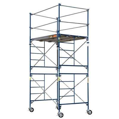 Saferstack 10 ft. x 5 ft. x 7 ft. 2-Story Rolling Scaffold Tower