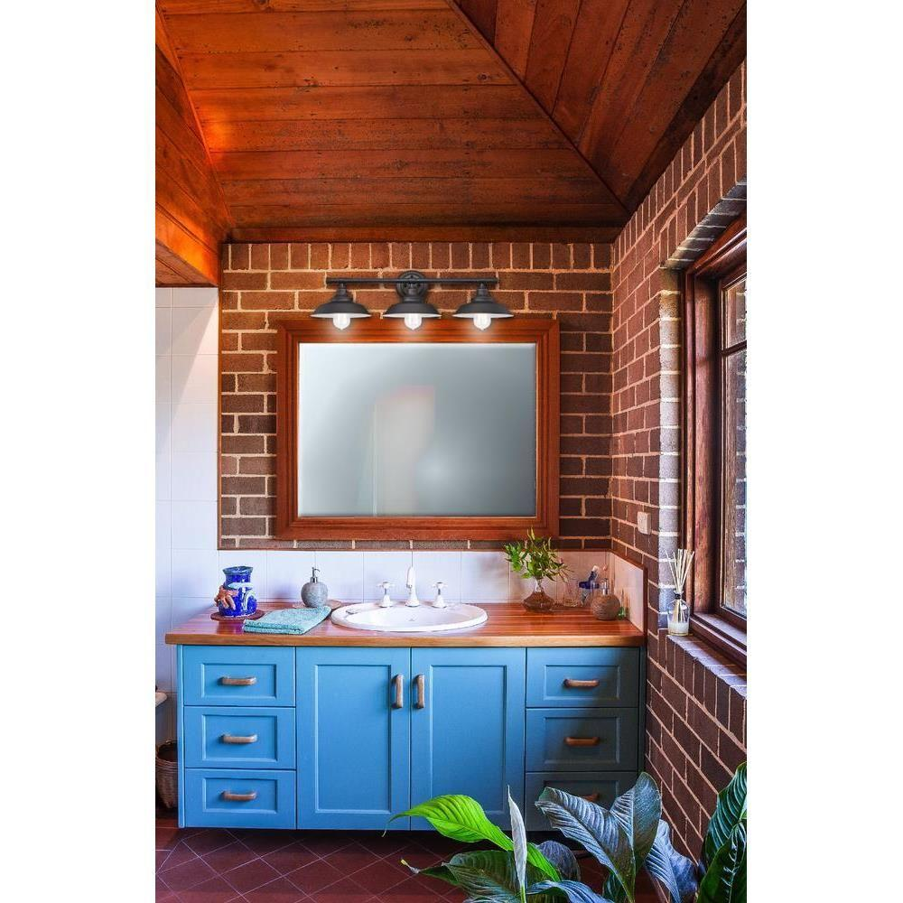 Vanity Light Bathroom Wall Oil-Rubbed Bronze Farmhouse Vintage Industrial Shades