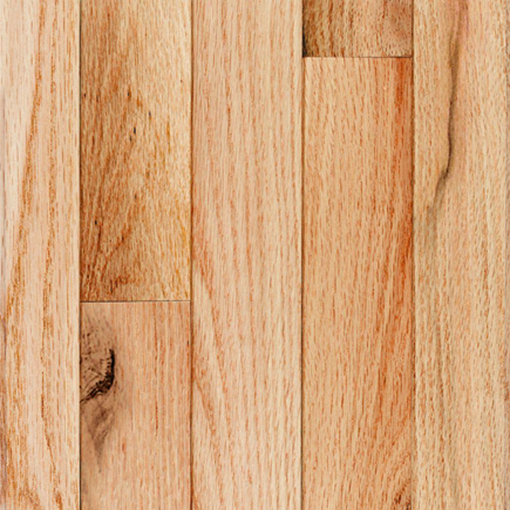 Millstead red oak natural 3 4 in thick x 4 in width x for Real oak hardwood flooring