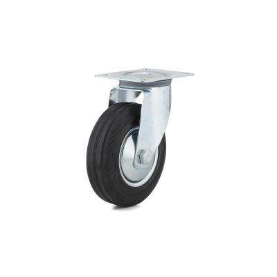 4-29/32 in. black Swivel Without Brake plate Caster, 220.5 lb. Load Rating
