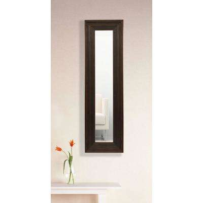 9.75 in. x 25.75 in. Barnwood Brown Vanity Mirror Single Panel