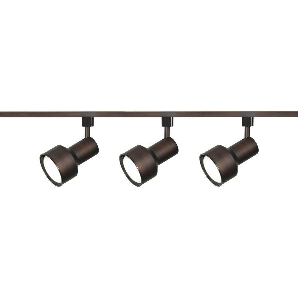 Glomar 3-Light R30 Russet Bronze Step Cylinder Track