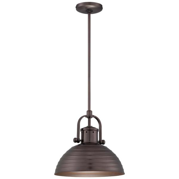 1-Light Harvard Court Bronze Pendant