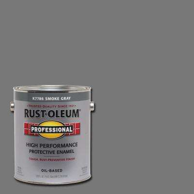 1 gal. High Performance Protective Enamel Gloss Smoke Gray Oil-Based Interior/Exterior Paint (2-Pack)
