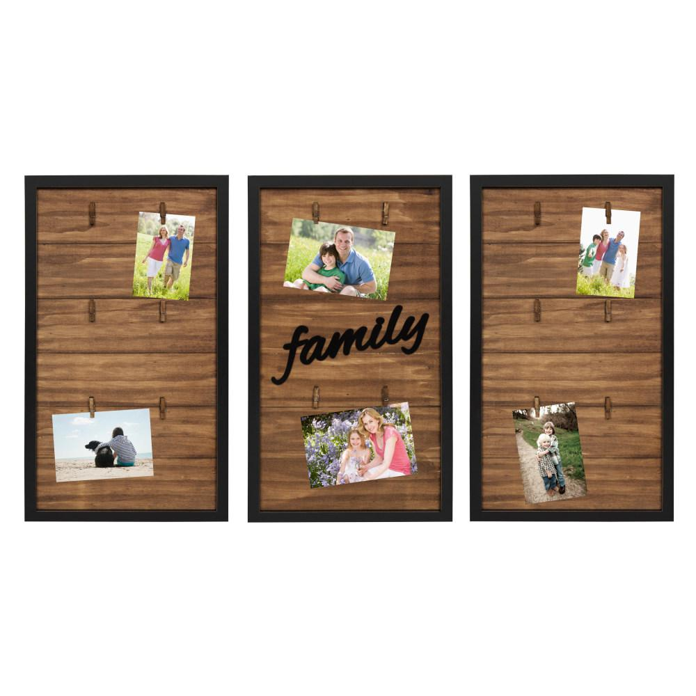 Kate And Laurel Alena 3 Piece Black Collage Picture Frame 212068