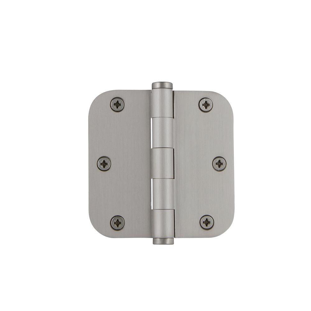3.5 in. Button Tip Residential Hinge with 5/8 in. Radius Corners