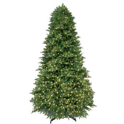 9 ft. Pre-Lit LED Balsam Fir Artificial Christmas Tree with Warm White Lights