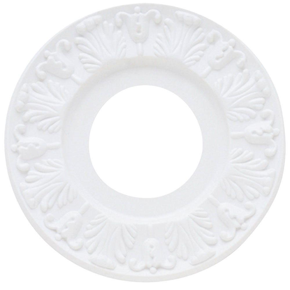 Victorian White Finish Ceiling Medallion 7702700   The Home Depot