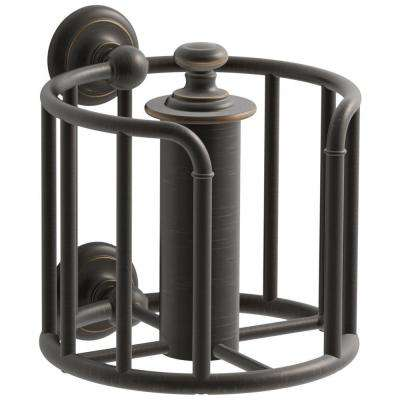 Artifacts Double Post Toilet Paper Holder in Oil Rubbed Bronze