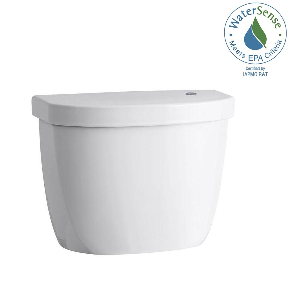 Cimarron Touchless 1.28 GPF Single Flush Toilet Tank Only in White