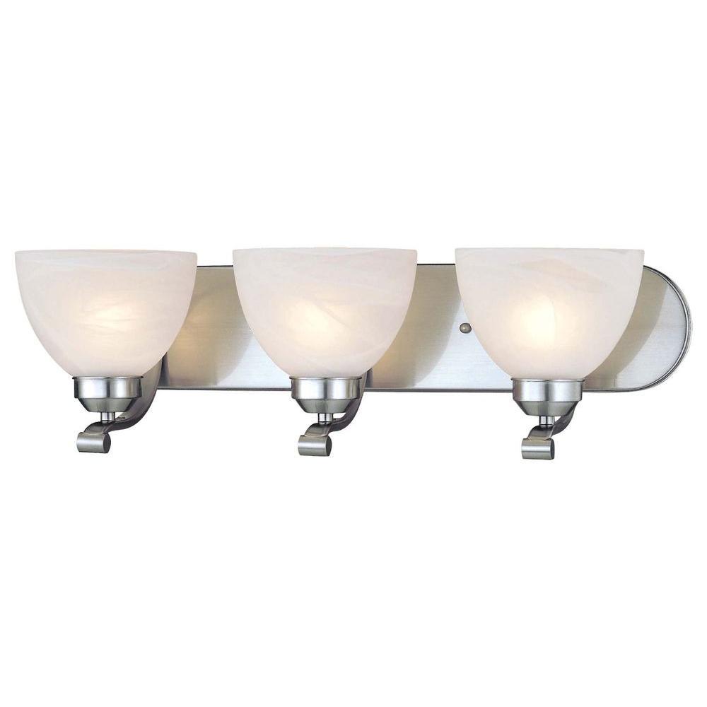 Minka Lavery Paradox 3-Light Brushed Nickel Bath Light