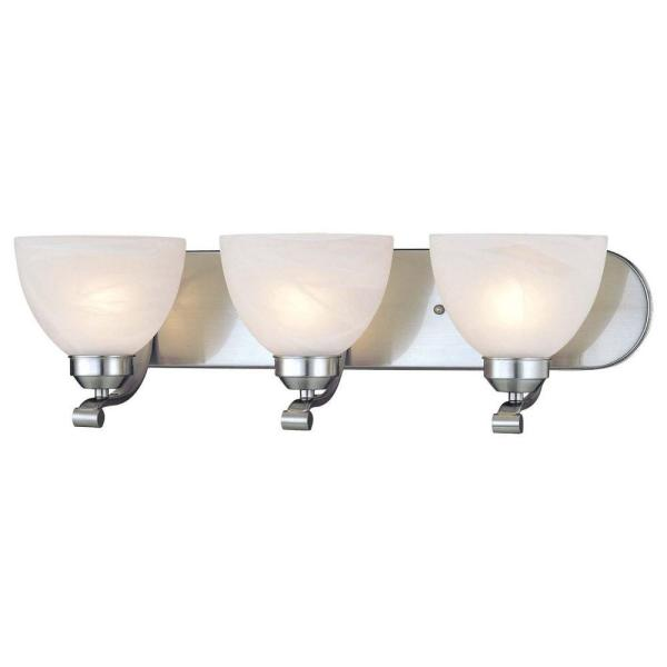 Paradox 3-Light Brushed Nickel Bath Light