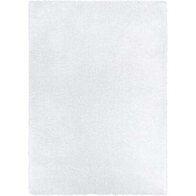 Feather Liza White 7 ft. 10 in. x 9 ft. 10 in. Modern Shag Area Rug