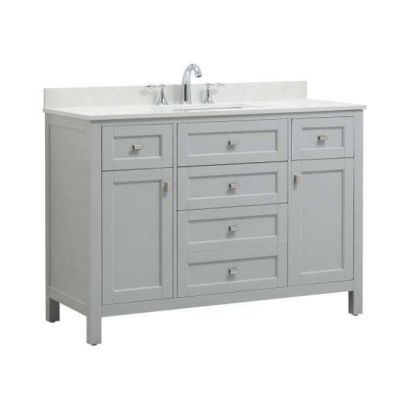 CAHABA CA101011 Juniper Collection Vanity With Top White Basin