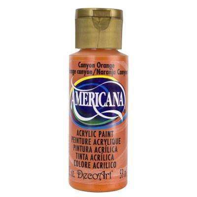 Americana 2 oz. Canyon Orange Acrylic Paint
