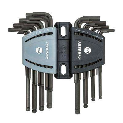 SAE/Metric Ball End Hex Key Set (26-Piece)