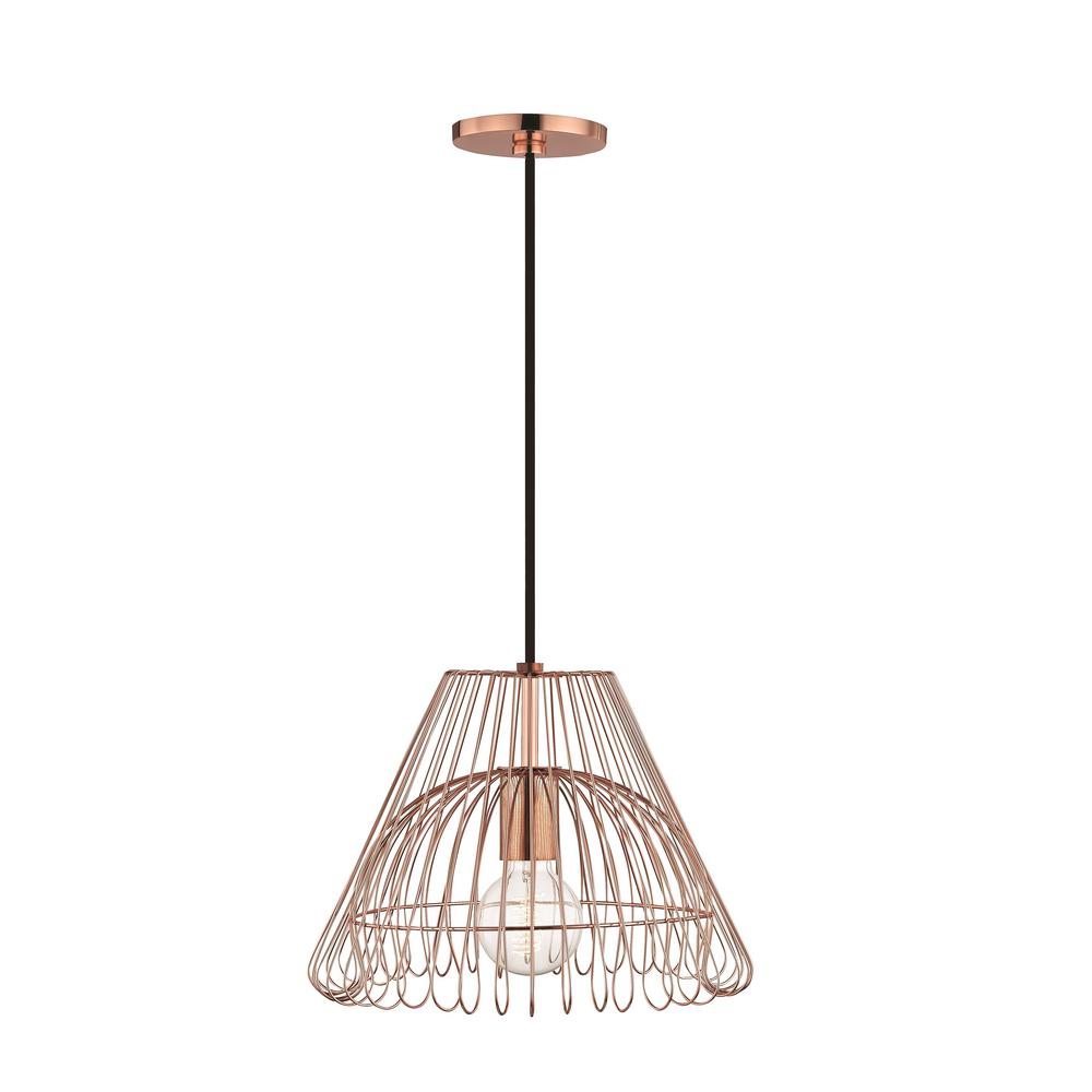 Mitzi By Hudson Valley Lighting Katie 1 Light Polished Copper Small Pendant
