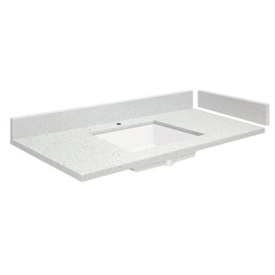 58.25 in. W x 22.25 in. D Quartz Vanity Top in Milan White with Single Hole