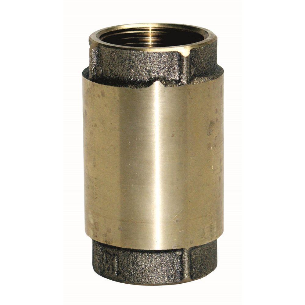 Everbilt 1-1/2 in. Brass Check Valve