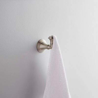 Devonshire Single Robe Hook in Vibrant Brushed Nickel