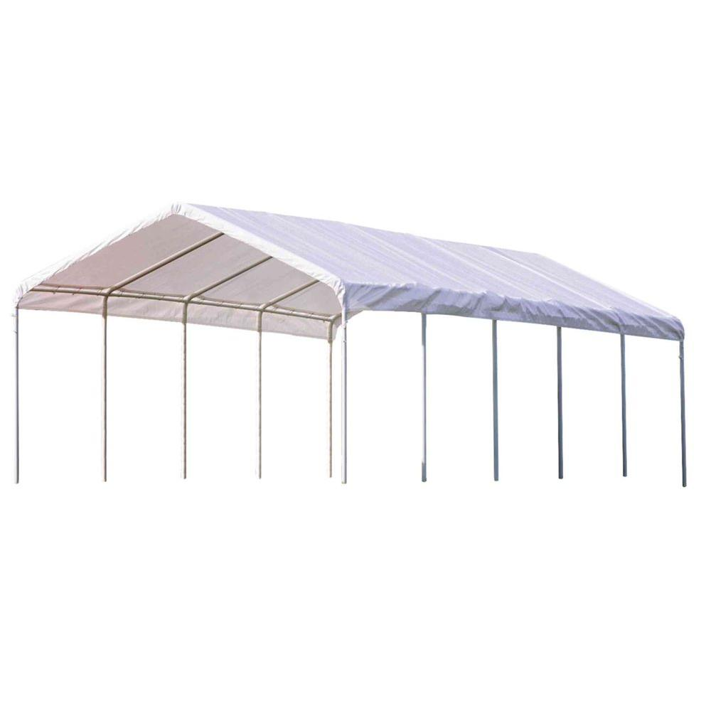 Super Max 12 ft. x 30 ft. White Premium Canopy