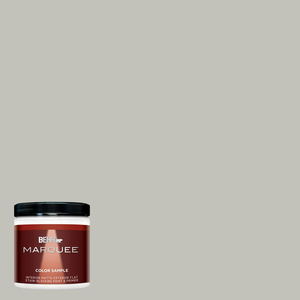 BEHR MARQUEE 8 oz. #PPU25-09 Foggy London Matte Interior/Exterior Paint and Primer in One Sample
