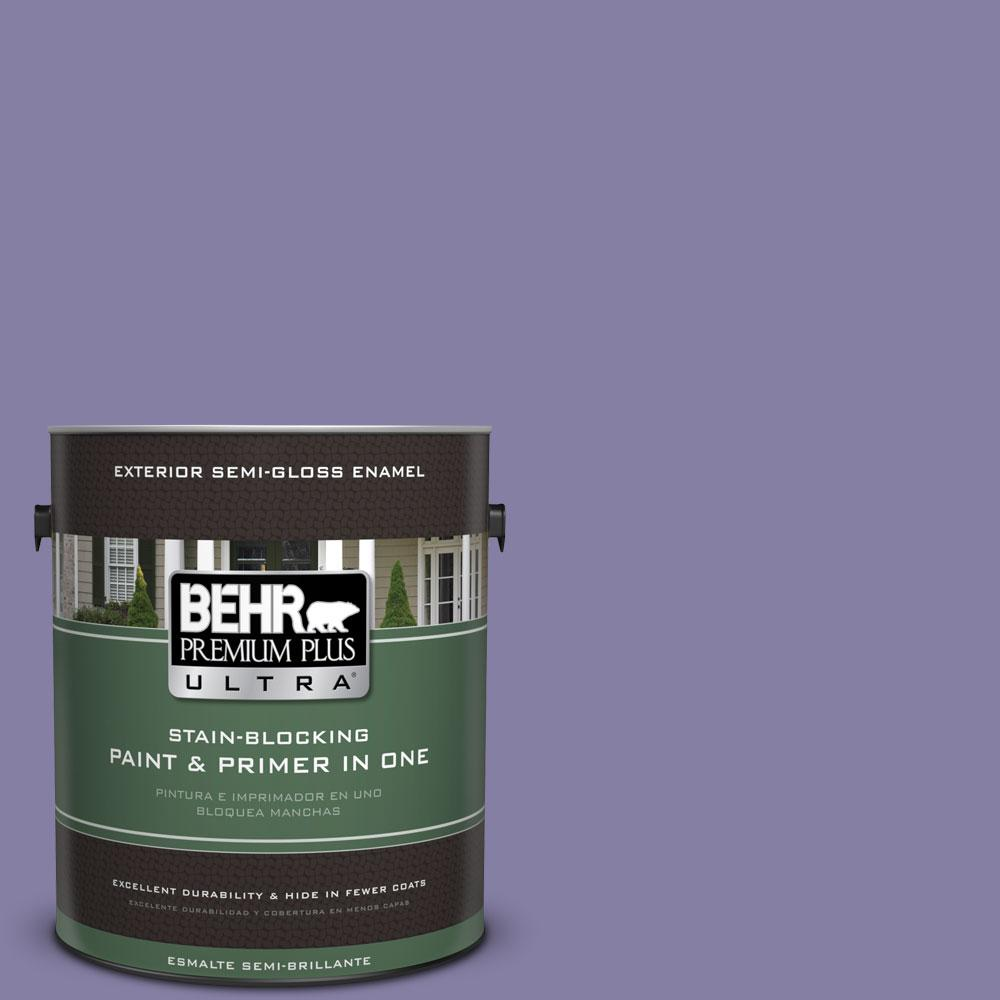BEHR Premium Plus Ultra 1-gal. #640D-6 Chinese Violet Semi-Gloss Enamel Exterior Paint