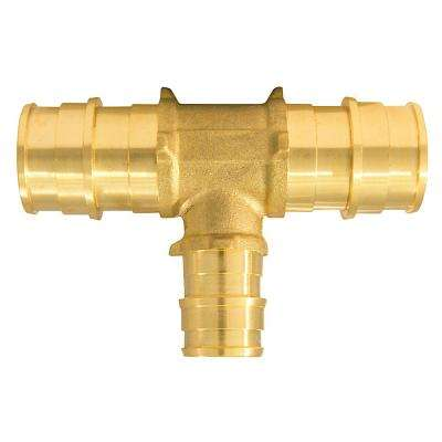 3/4 in. x 3/4 in. x 1/2 in. Brass PEX-A Barb Reducing Tee Fitting