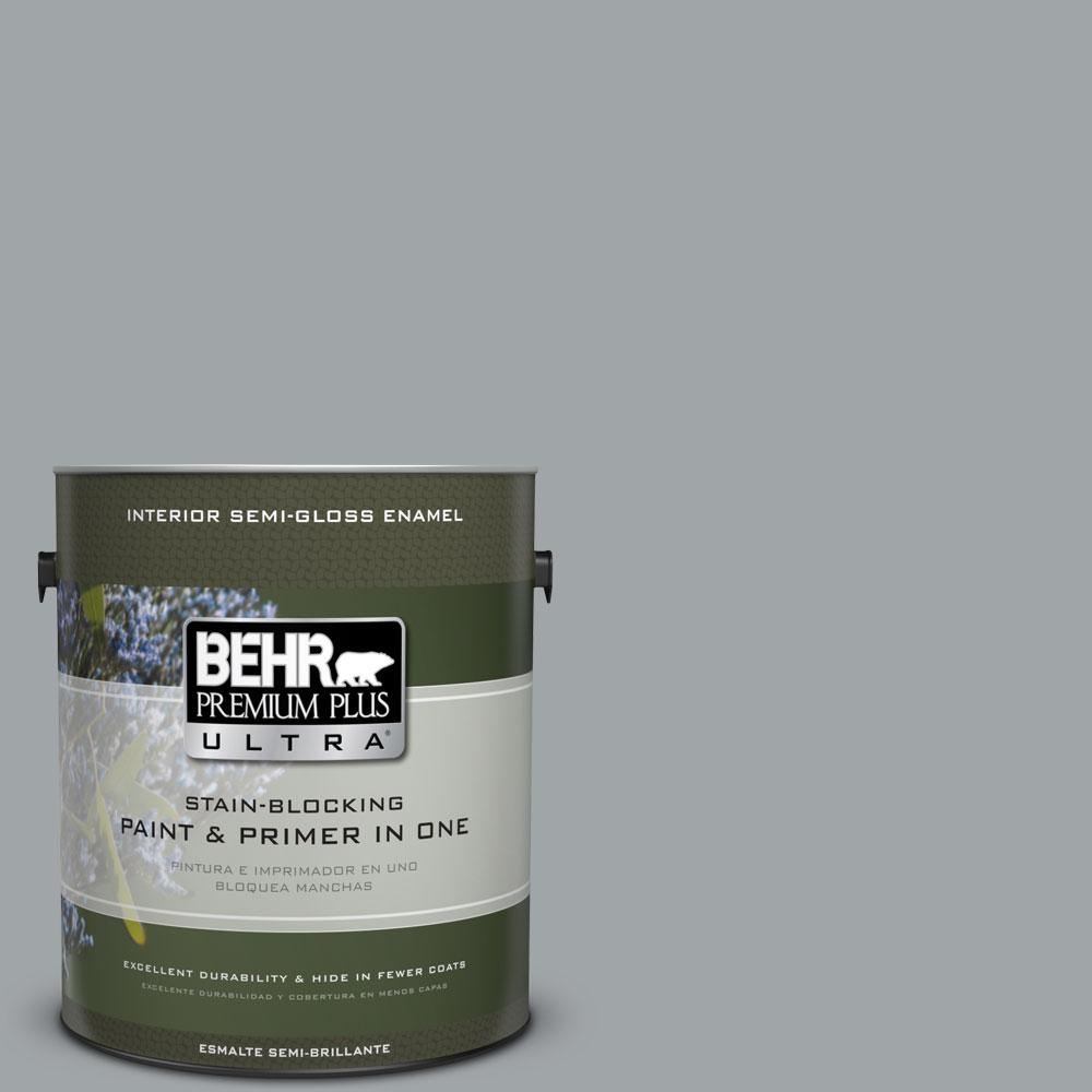 1 gal. #ECC-33-1 Iron Wood Semi-Gloss Enamel Interior Paint and Primer
