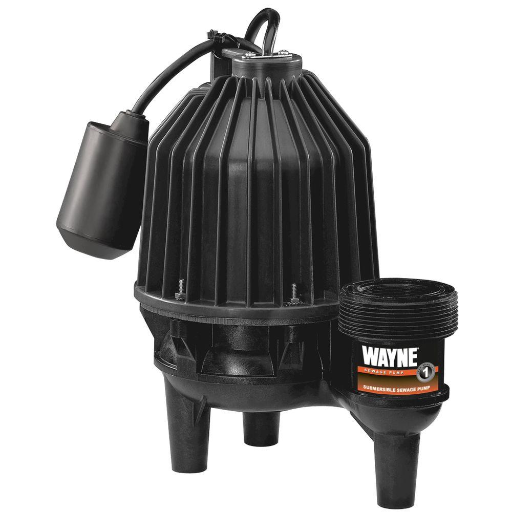 Wayne 1/2 HP Thermoplastic Sewage Pump