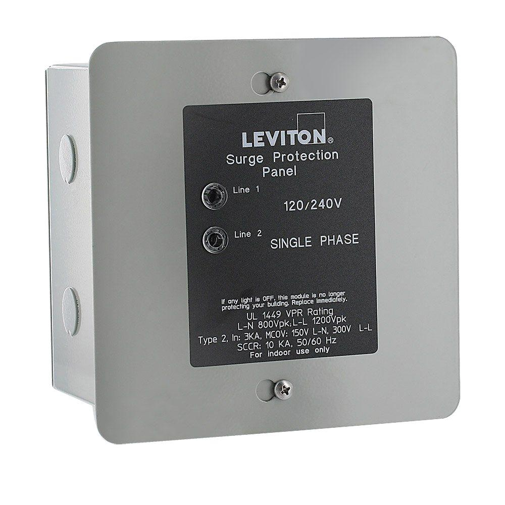 Leviton 120/240-Volt Surge Protection Panel-51120-1 - The Home Depot