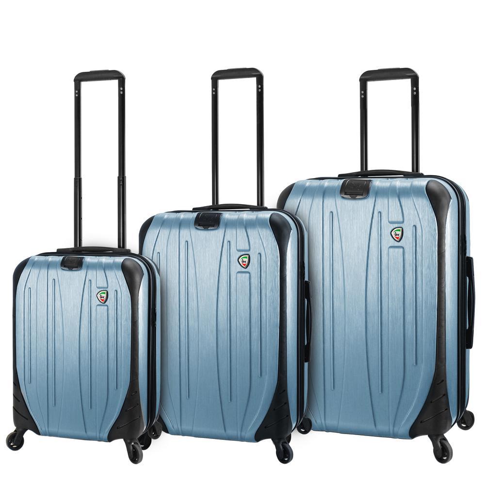 Mia Toro Ferro 3-Piece Slate Hardside Spinner Luggage Set
