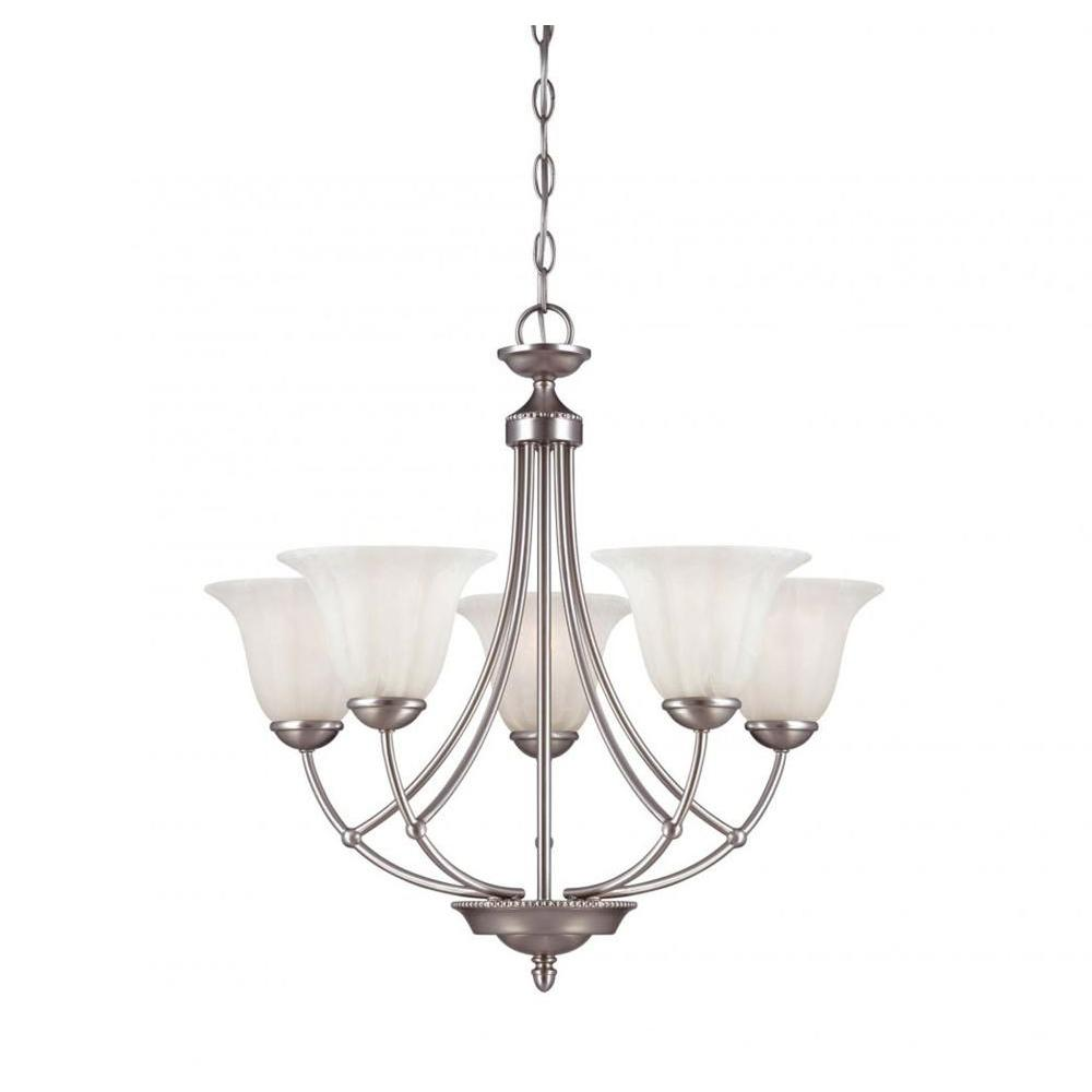 Filament Design McGriffin 5-Light Satin Nickel Chandelier