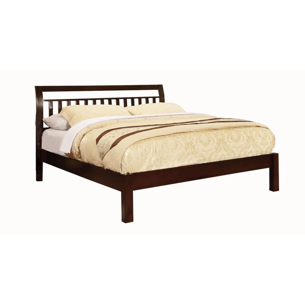 Corry in Dark Walnut  Queen Bed
