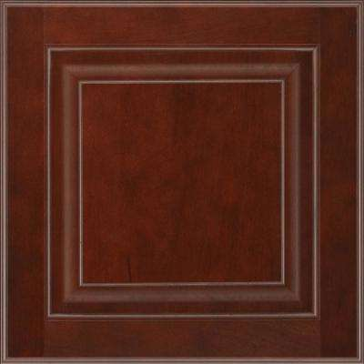 13 in. x 12-7/8 in. Cabinet Door Sample in Olmsted Cherry Bordeaux