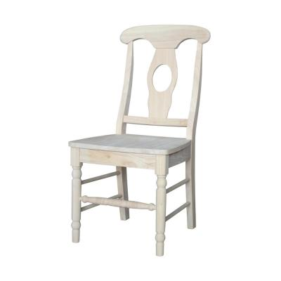 Empire Unfinished Solid Wood Chairs (Set of 2)