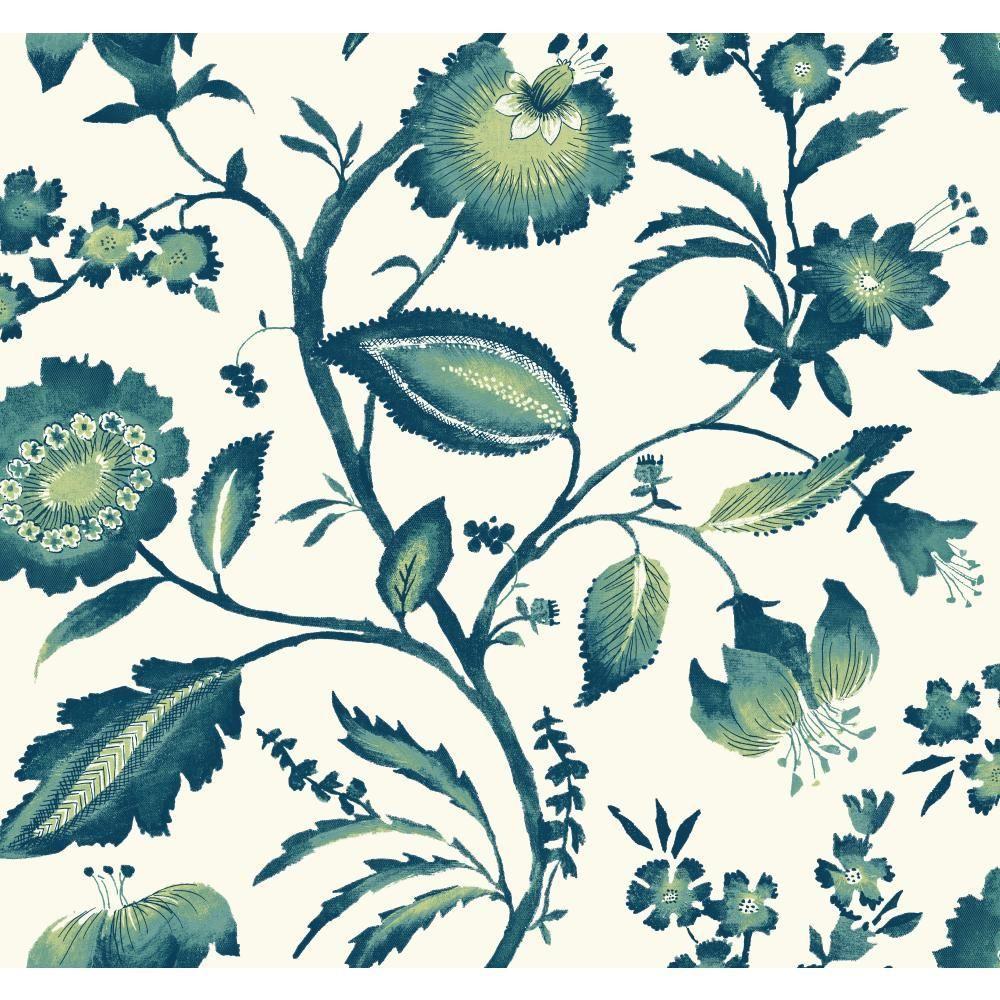 York Wallcoverings Tropics Watercolor Jacobean Wallpaper