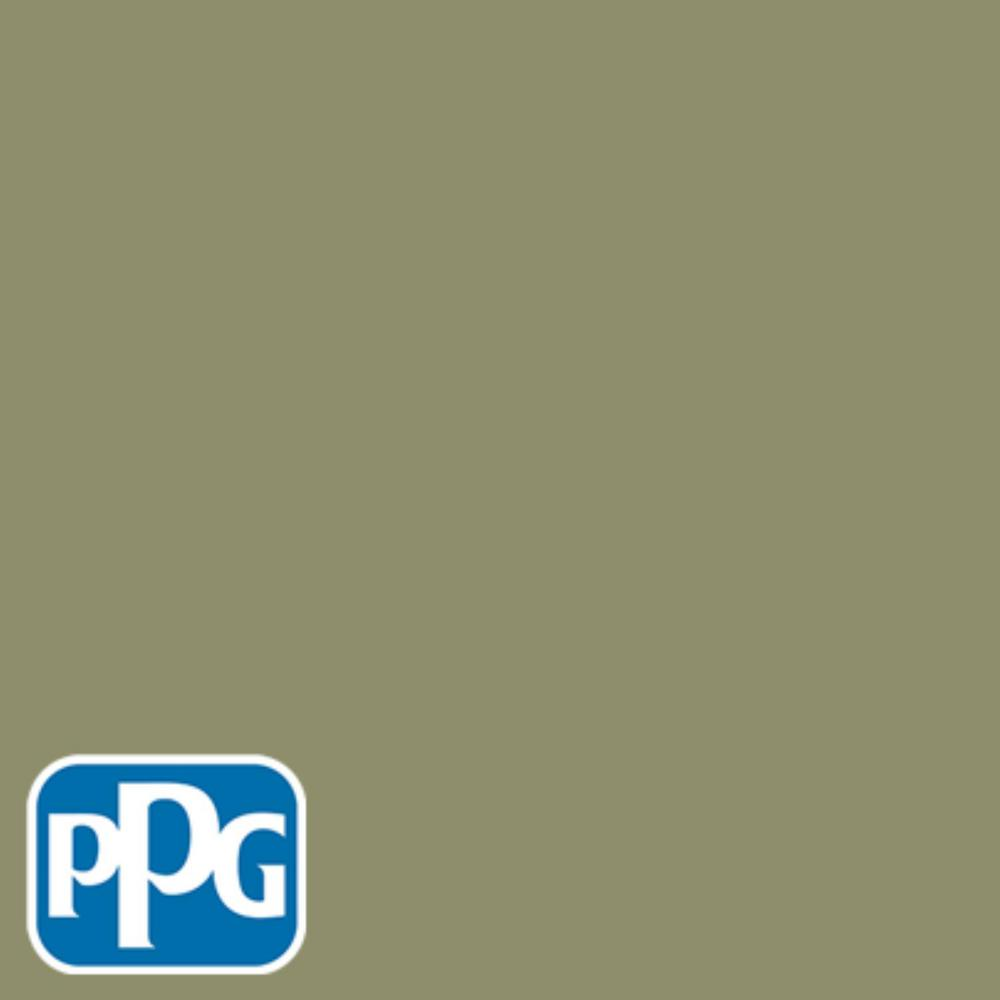 1 gal. #HDPPGG25 Pacific Pines Sage Satin Exterior One-Coat Paint with