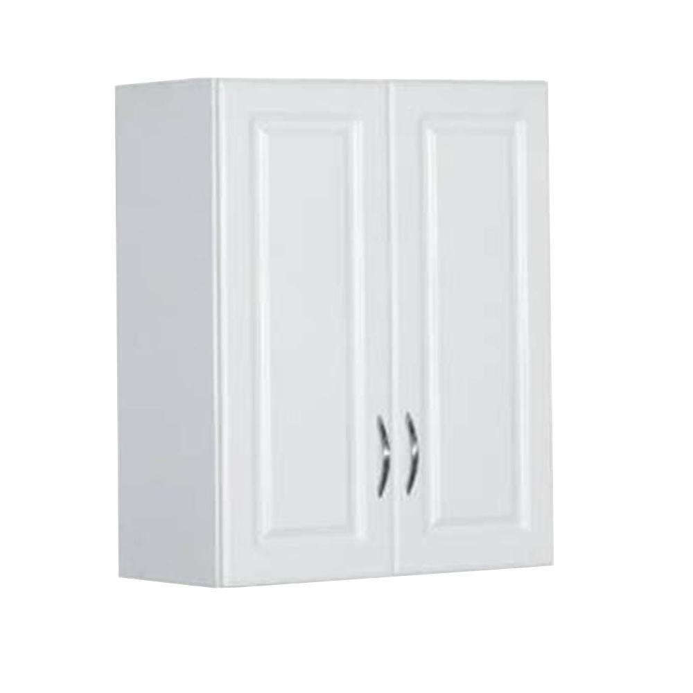 ClosetMaid 30 in. H x 24 in. W x 12 in. D White  sc 1 st  The Home Depot & ClosetMaid 30 in. H x 24 in. W x 12 in. D White Raised Panel Wall ...