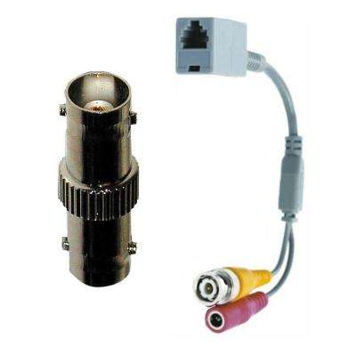 BNC to RJ12 Adapter Coupler with BNC Female to Female Barrel Connector