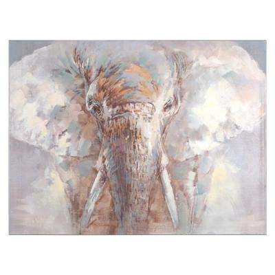 35.5 in. H x 47.3 in. W Face of a King Original Hand Painted Wall Art in Canvas