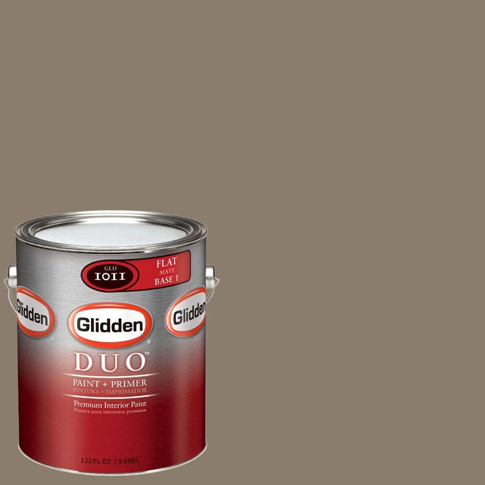 Glidden DUO Martha Stewart Living 1-gal. #MSL214-01F Snail Shell Flat Interior Paint with Primer-DISCONTINUED