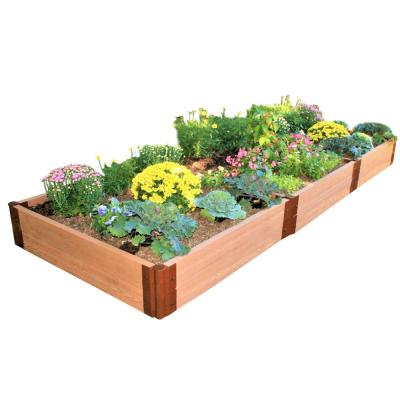 Two Inch Series 4 ft. x 12 ft. x 11 in. Classic Sienna Composite Raised Garden Bed Kit