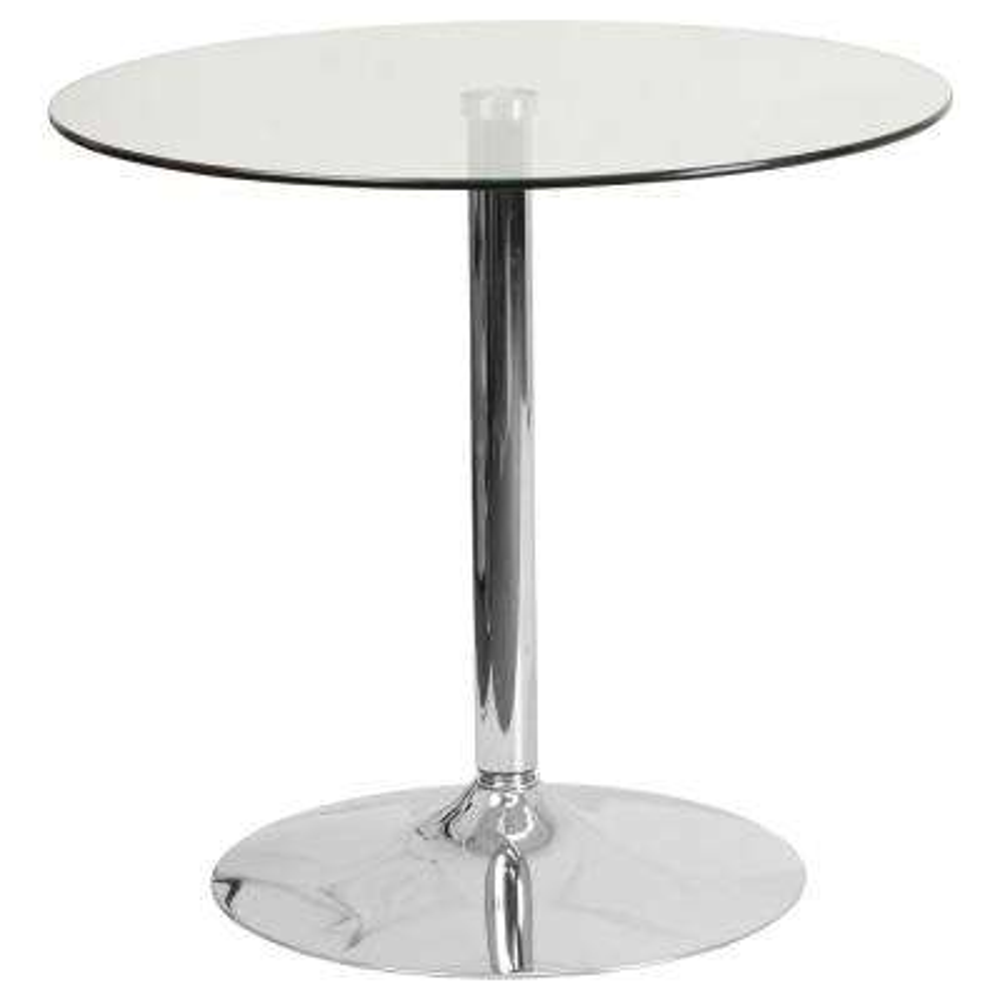 Clear/Chrome Dining Table