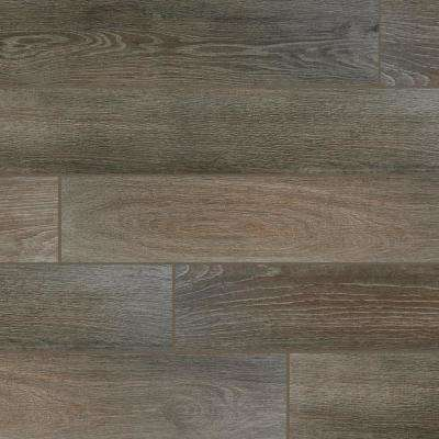 QuicTile 6 in. x 36 in. Driftwood Glazed Porcelain Locking Floor Tile (10.15 sq. ft. / case)