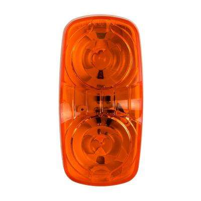 4 in. LED Double Bullseye Clearance and Side Marker Light, Amber